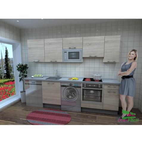 Cocina berl n barata modular recta con altos de 70 y campana extraplana cocif cil mk - Campana decorativa barata ...