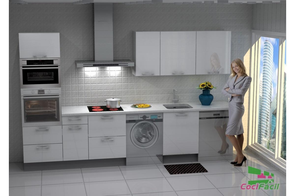 Cocina lisboa barata modular recta con altos de 70 y - Cocina con campana decorativa ...
