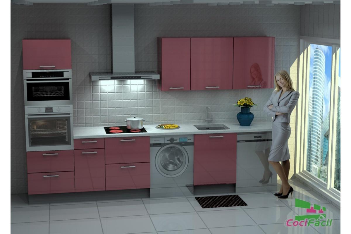 Cocina lisboa barata modular recta con altos de 70 y for Ofertas cocinas completas