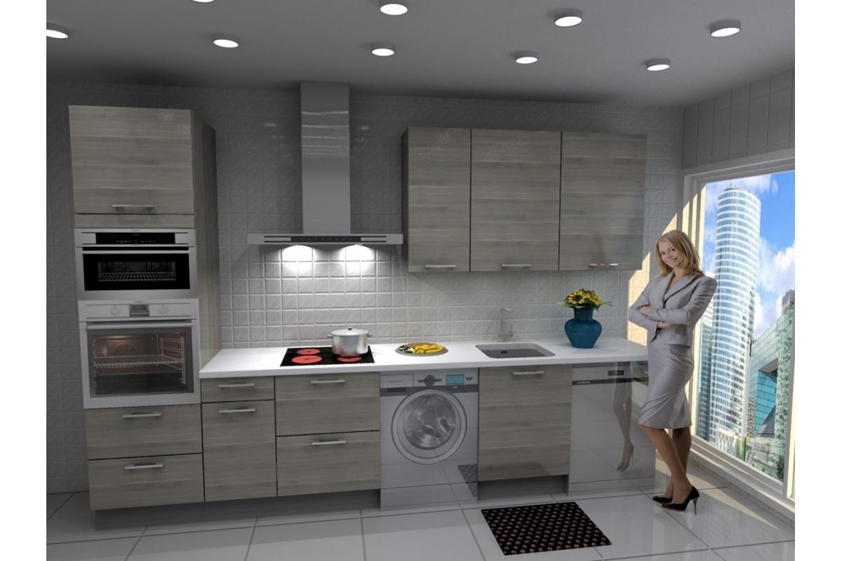 Cocina lisboa barata modular recta con altos de 90 y campana decorativa cocif cil mk - Cocina con campana decorativa ...