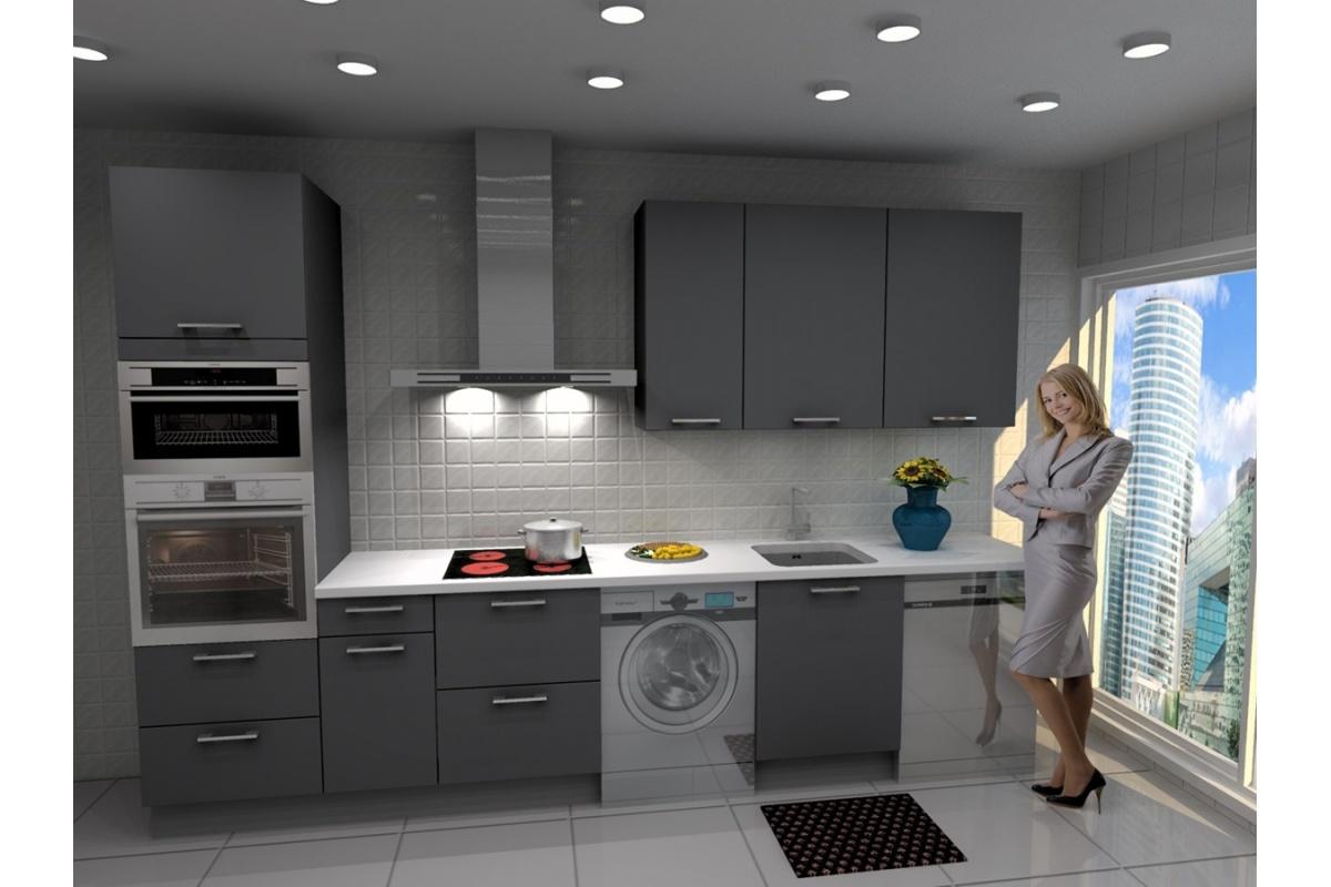 Cocina lisboa barata modular recta con altos de 90 y - Cocinas de campana ...