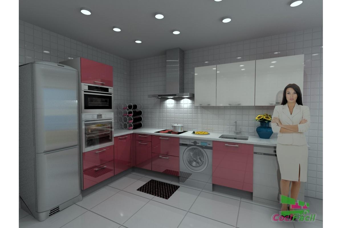 Cocina roma barata modular recta con altos de 70 y - Cocinas con campanas decorativas ...