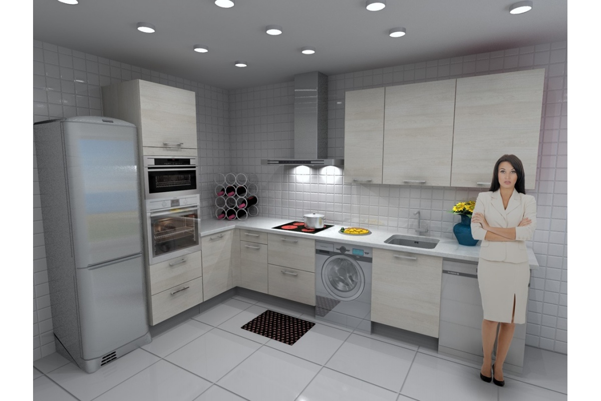 Cocina roma barata modular recta con altos de 90 y campana decorativa cocif cil mk - Cocina con campana decorativa ...