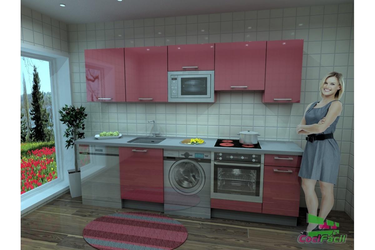 Cocina Berlín, barata, modular, recta, con altos de 70 y campana ...