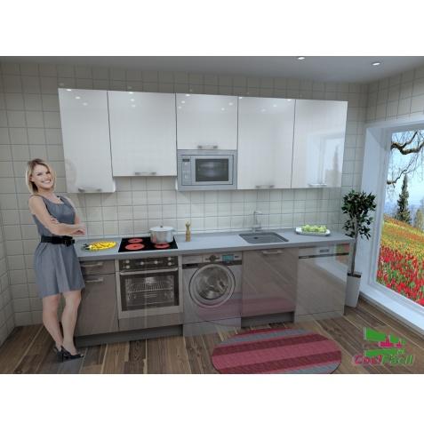 Cocina Berlín, barata, modular, recta, con altos de 90 y campana extraplana