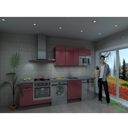 Cocina Atenas, barata, modular, recta, con altos de 70 y campana decorativa