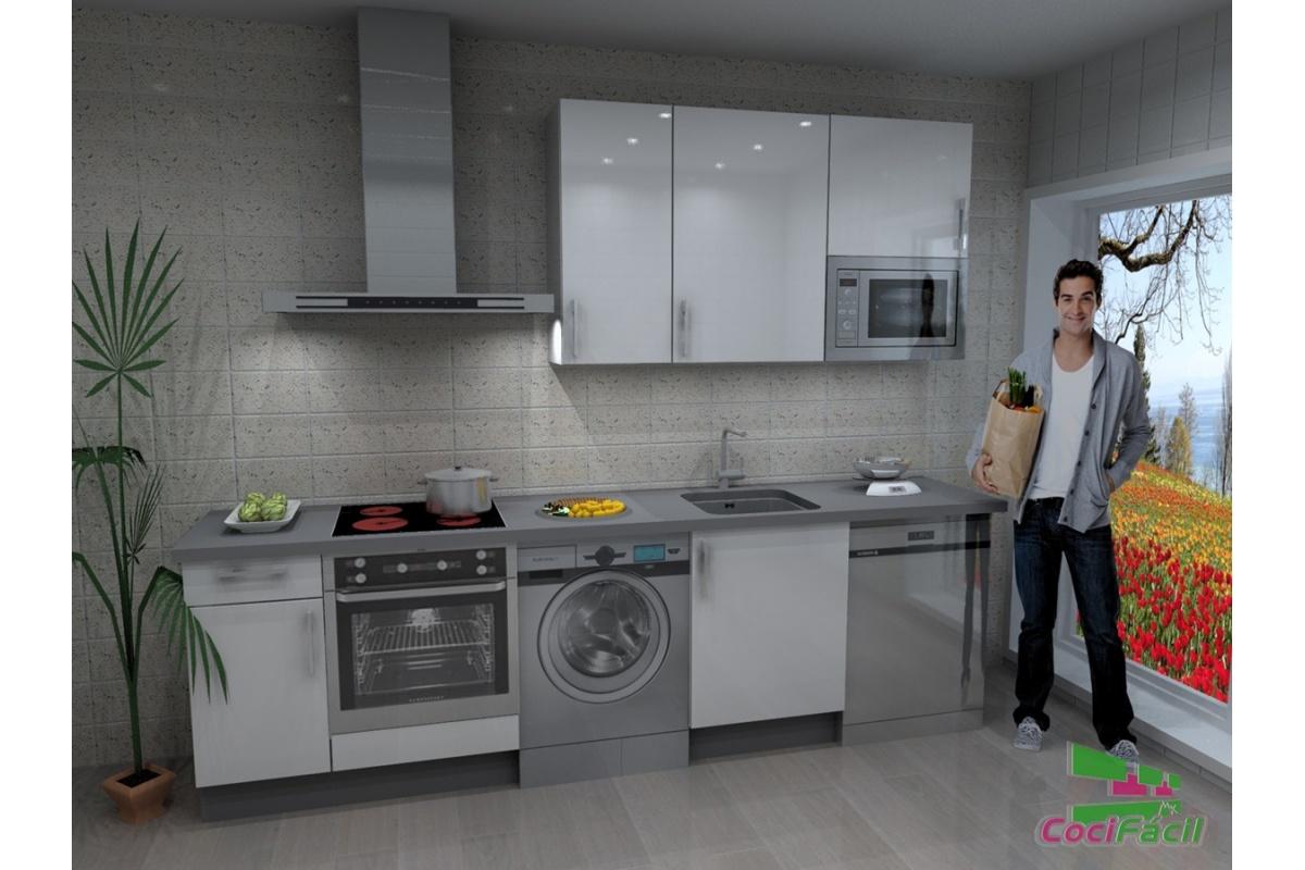 Cocina atenas barata modular recta con altos de 90 y - Altura campana cocina ...