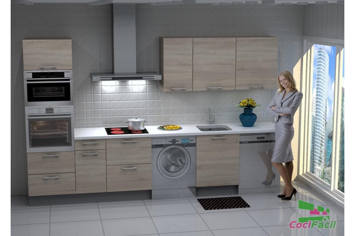 cocina lisboa barata modular recta con altos de 70 y