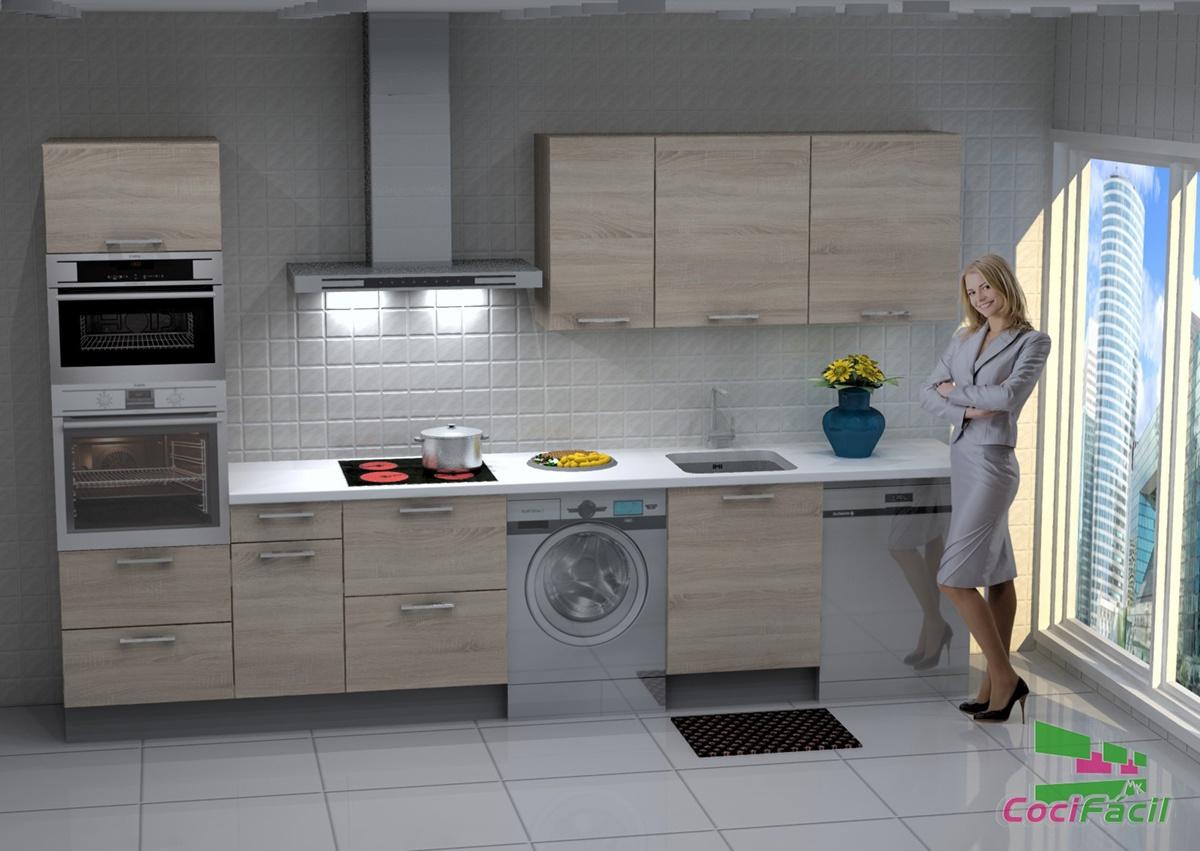 Cocina con campana decorativa excellent esta instalacin es sobre la encimera de la cocina - Campana decorativa barata ...