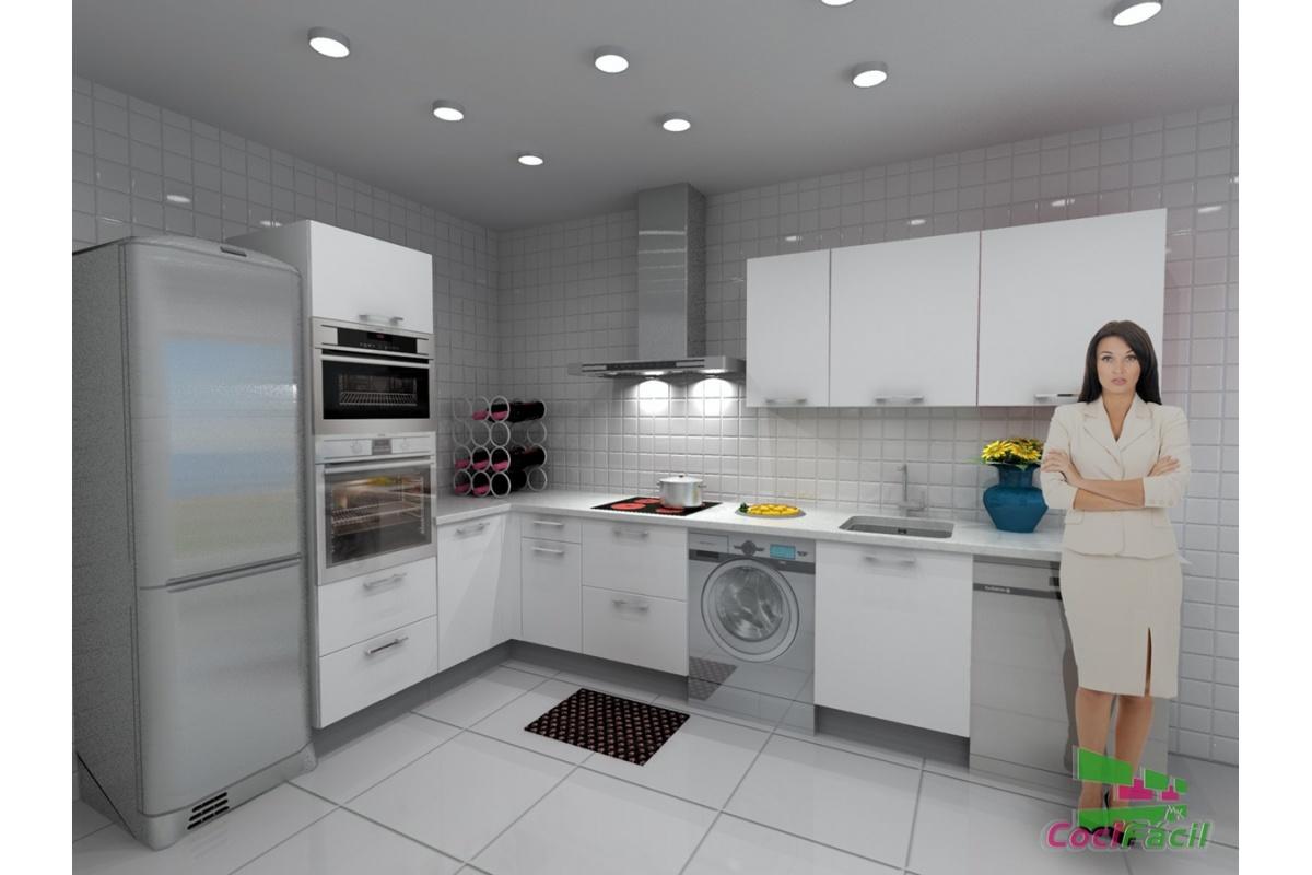Cocina roma barata modular recta con altos de 70 y for Cocinas completas baratas