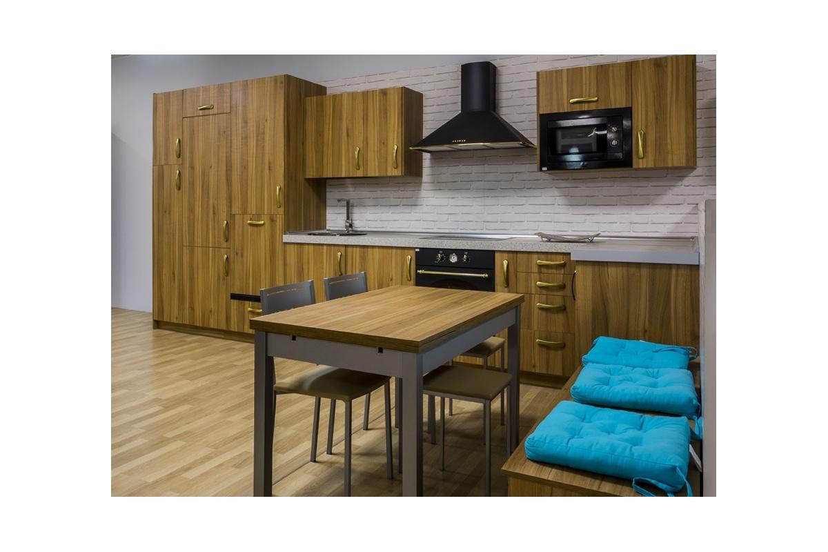 Cocina en exposici n formica madera r stica cocif cil mk for Formica madera