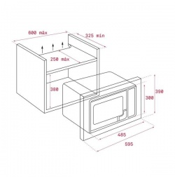 Microondas Integrable TEKA MS620BIS Inox